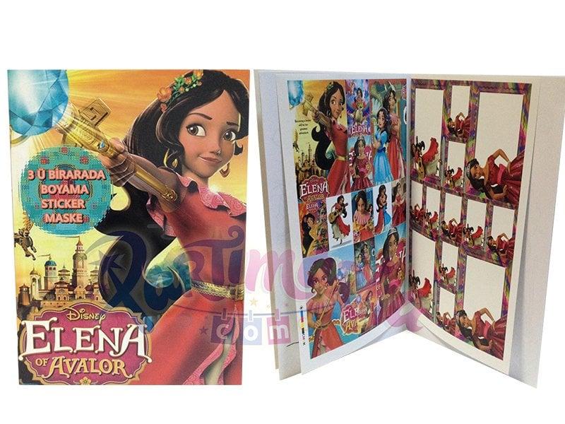 Prenses Elena Hediyelik Boyama Kitap Doğum Günü Hediyeleri Partimarka