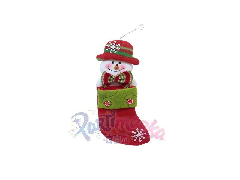 Yılbaşı Noel Kardan Adam çorap Yılbaşı Hediye çorapları Partimarka