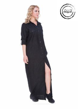 4ca9a476f79e1 Uzun Keten Gömlek Elbise