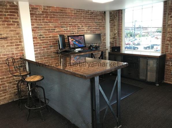 Ahşap Camlı Ofis Masası