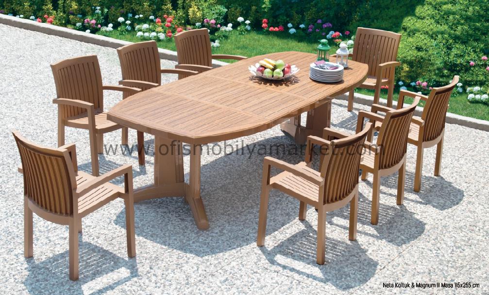 Bahçe Yemek Masa Takımı Papatya