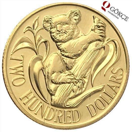 السعر 200 100 Dolar: Avustralya 200 Dolar 1980 Altın ÇİL YMP2922
