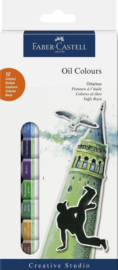 Faber Castell Tüpte Yağlı Boya Seti 12 Renk Sulu Boya Faber Castell
