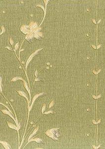 Fiorenza 9621-yeşil-desenli-işlemeli italyan duvar kağıdı