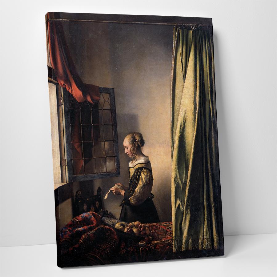 Johannes Vermeer Pencerede Kitap Okuyan Kız Kanvas Tablo Kanvas