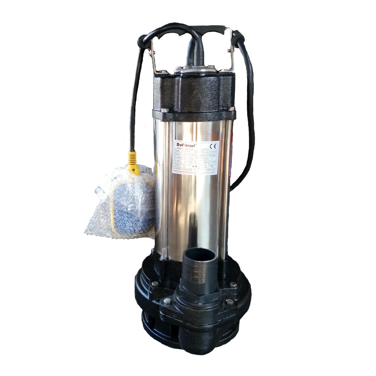 Duffmart V1500F Pis Su Foseptik Parçalayıcılı Açık Fanlı Dalgıç Pompa
