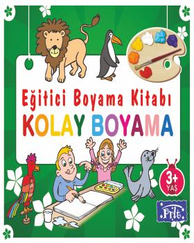 Egitici Boyama Kitabi Kolay Boyama 3 Yas 96 Sayfa