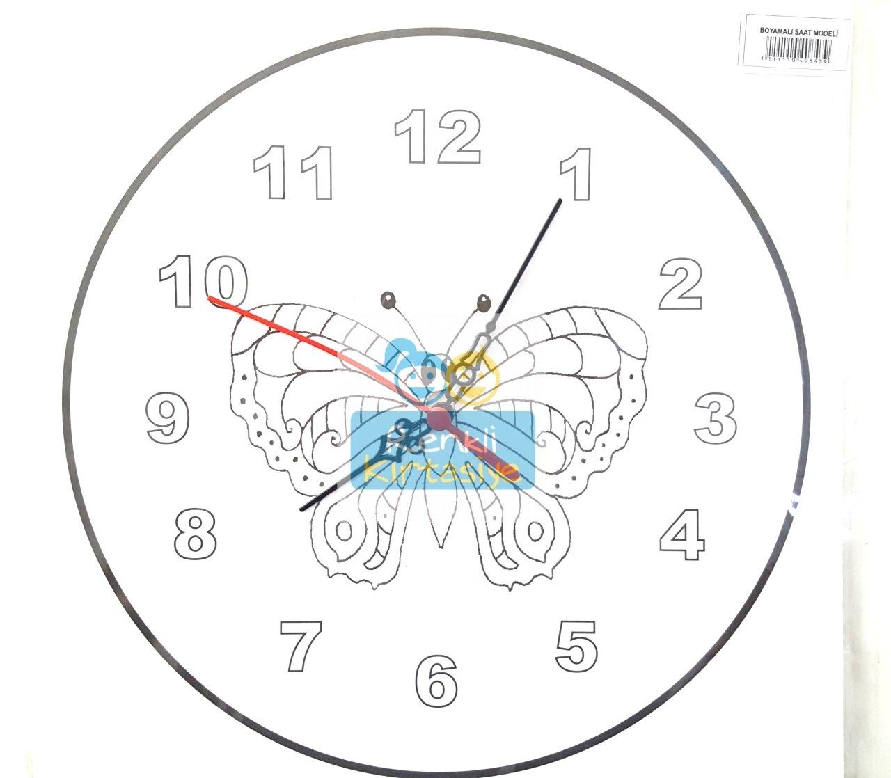 Saat Boyama Kelebek Karton Mekanızması Dahil