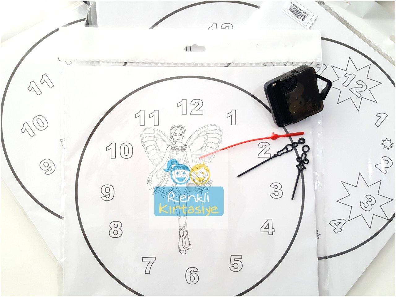 Saat Boyama Yıldız Karton Mekanızması Dahil