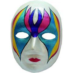Yüz şekilli Lastikli Karton Maske 24 Cm Boyanabilir