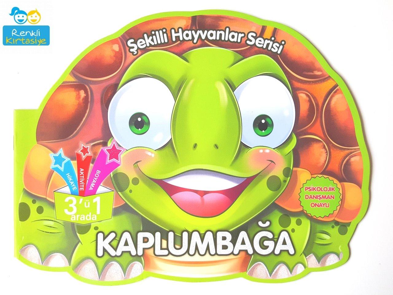 Sekilli Hayvanlar Serisi Kaplumbaga 3 U 1 Arada Aktivite Kitabi