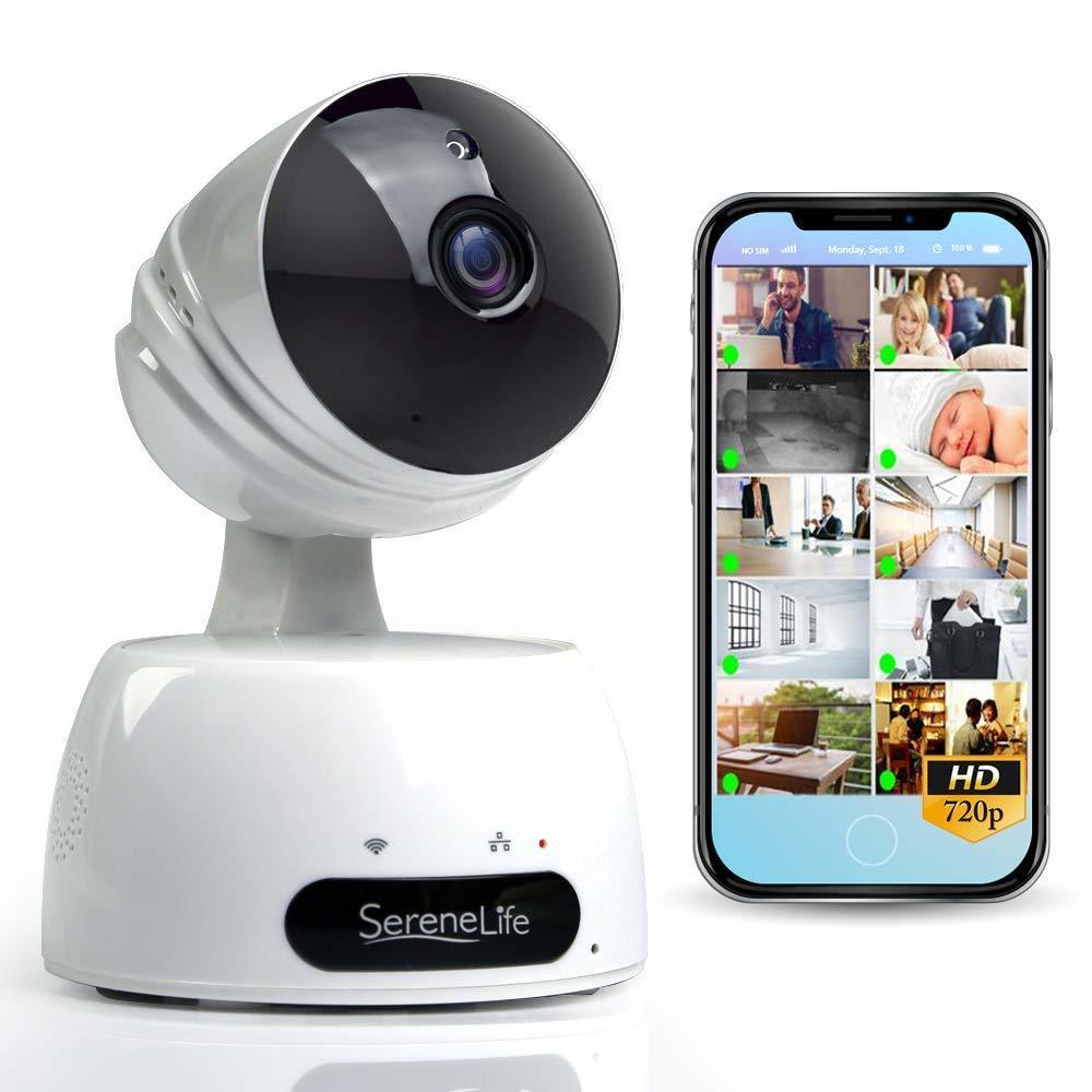 SereneLife Indoor Wireless IP Camera - HD 720p- IPCAMHD30