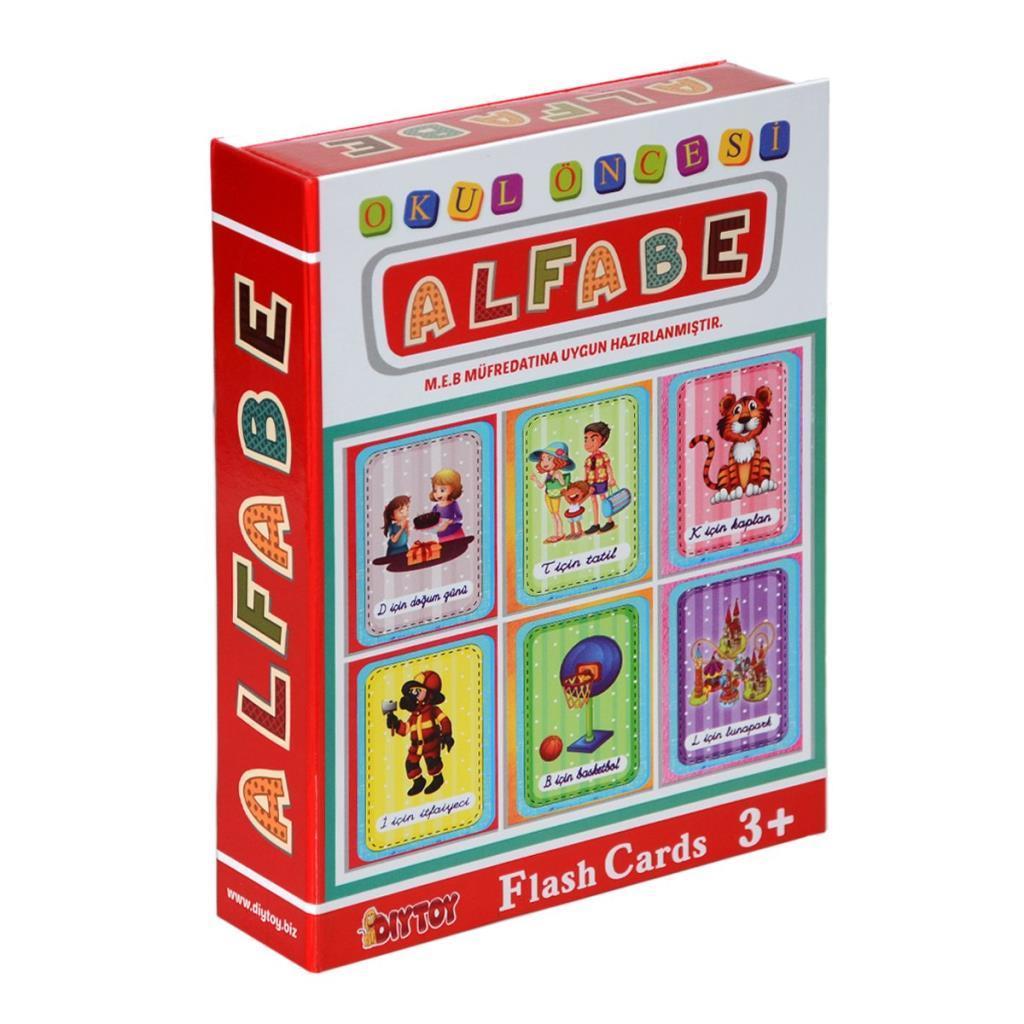 1178 DıyToy Flash Cards - Alfabe / Okul Öncesi / + 3 yaş
