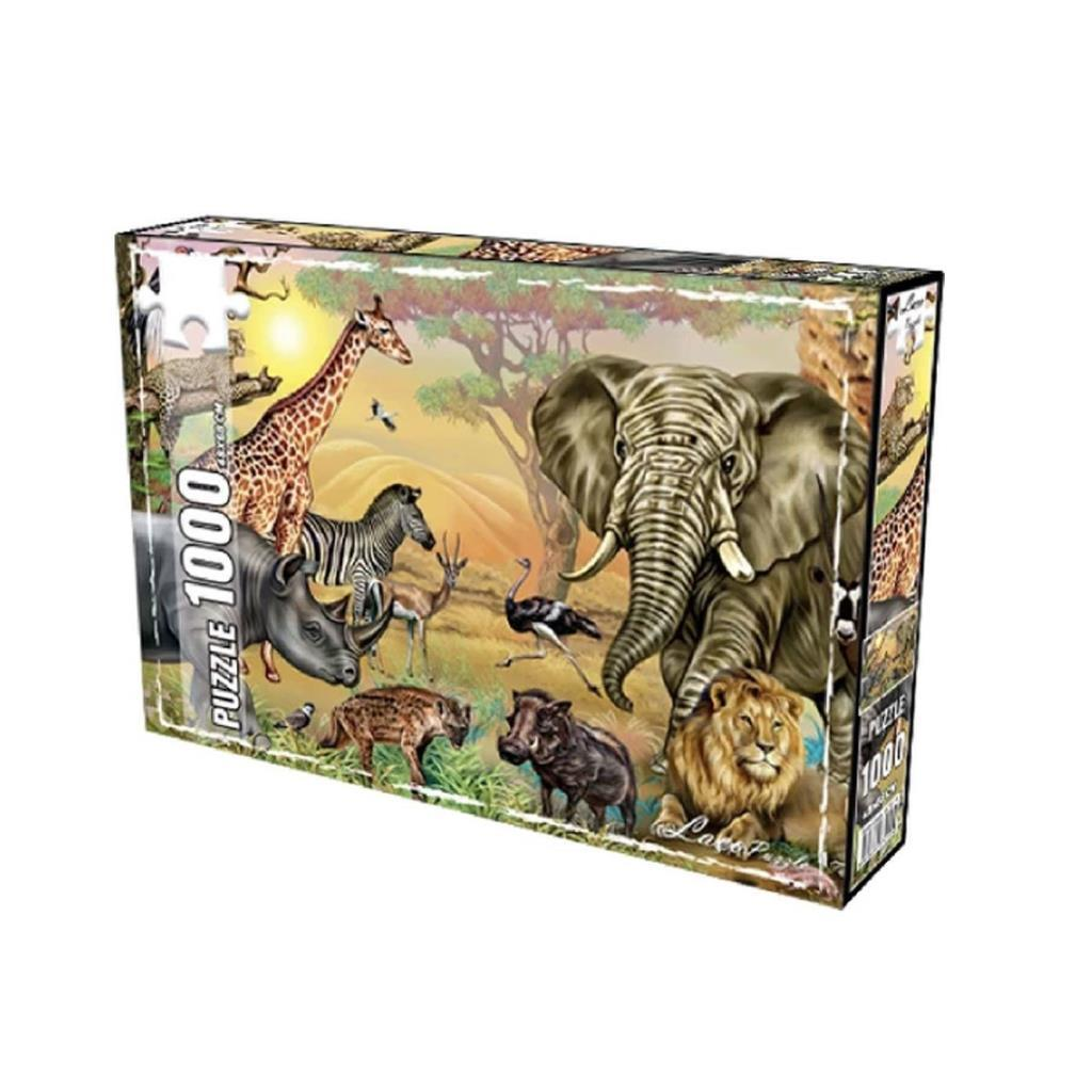 LC7278 Utku, Savana Hayvanları 1000 Parça Puzzle