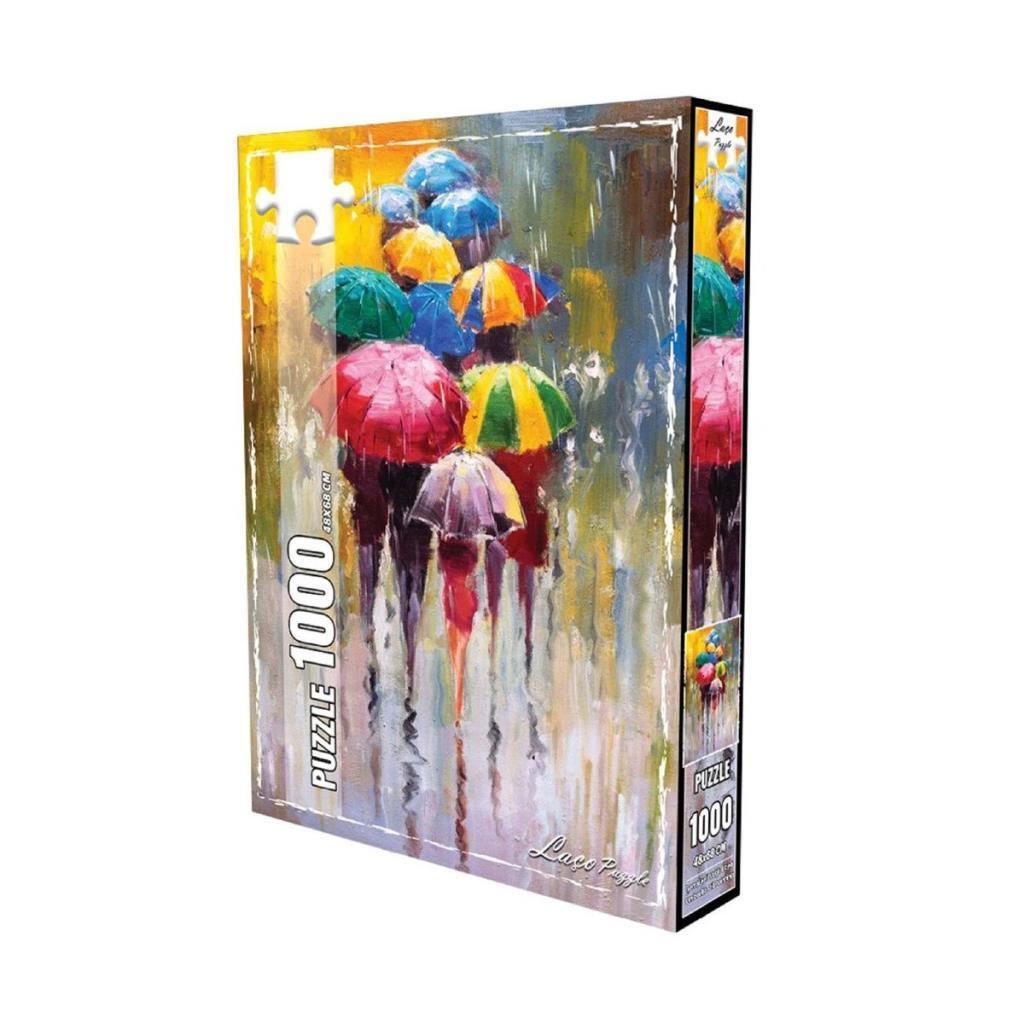 LC7283 Utku, Renkli Şemsiyeler 1000 Parça Puzzle