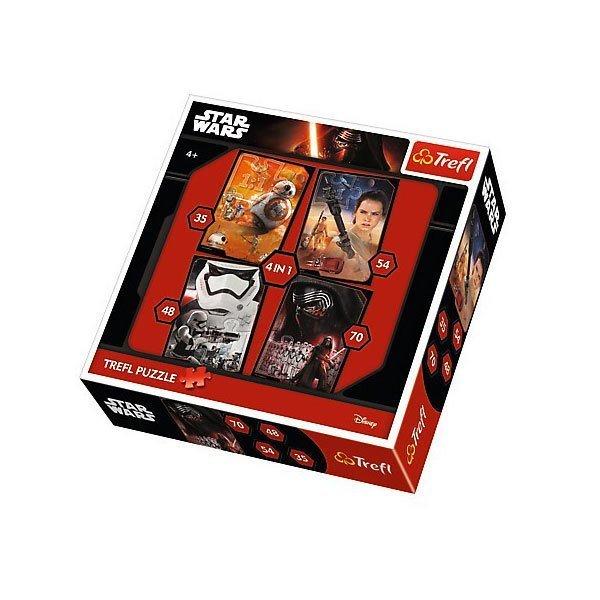 34263 Trefl Puzzle Star Wars Episode VII 4'lü 35+48+54+70 Parça Puzzle