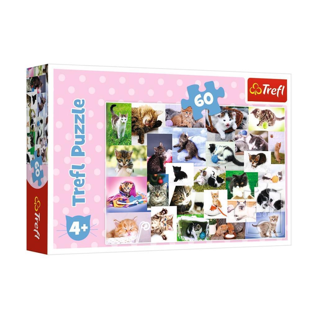 17332 Trefl Puzzle Cat's World 60 Parça Puzzle