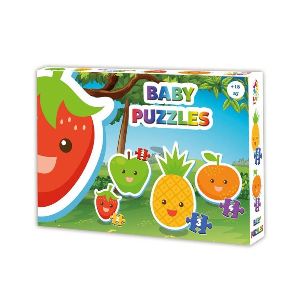 LCBYB002 Laço Kids Baby Puzzles - Meyveler / 2+2+3+4 Parça Puzzle / +18 ay