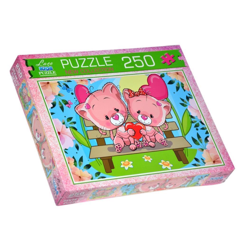 LC7196 Laço Kids Pembe Ayıcıklar 250 Parça Puzzle