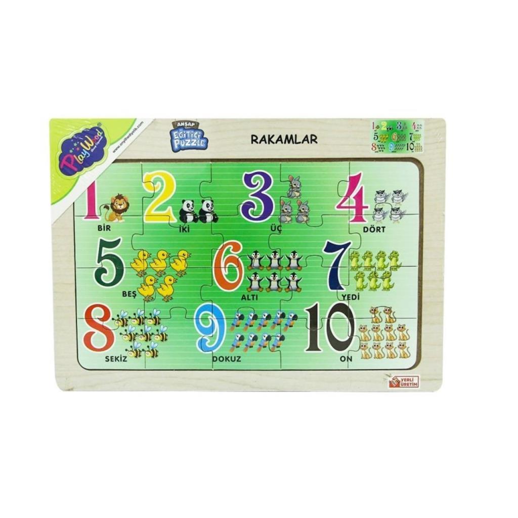113/114/115/116 Onyıl, Eğitici Ahşap Puzzle (harfler, rakamlar)