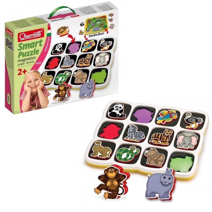 Quercetti Smart Mıknatıslı Puzzle-Hayvanlar