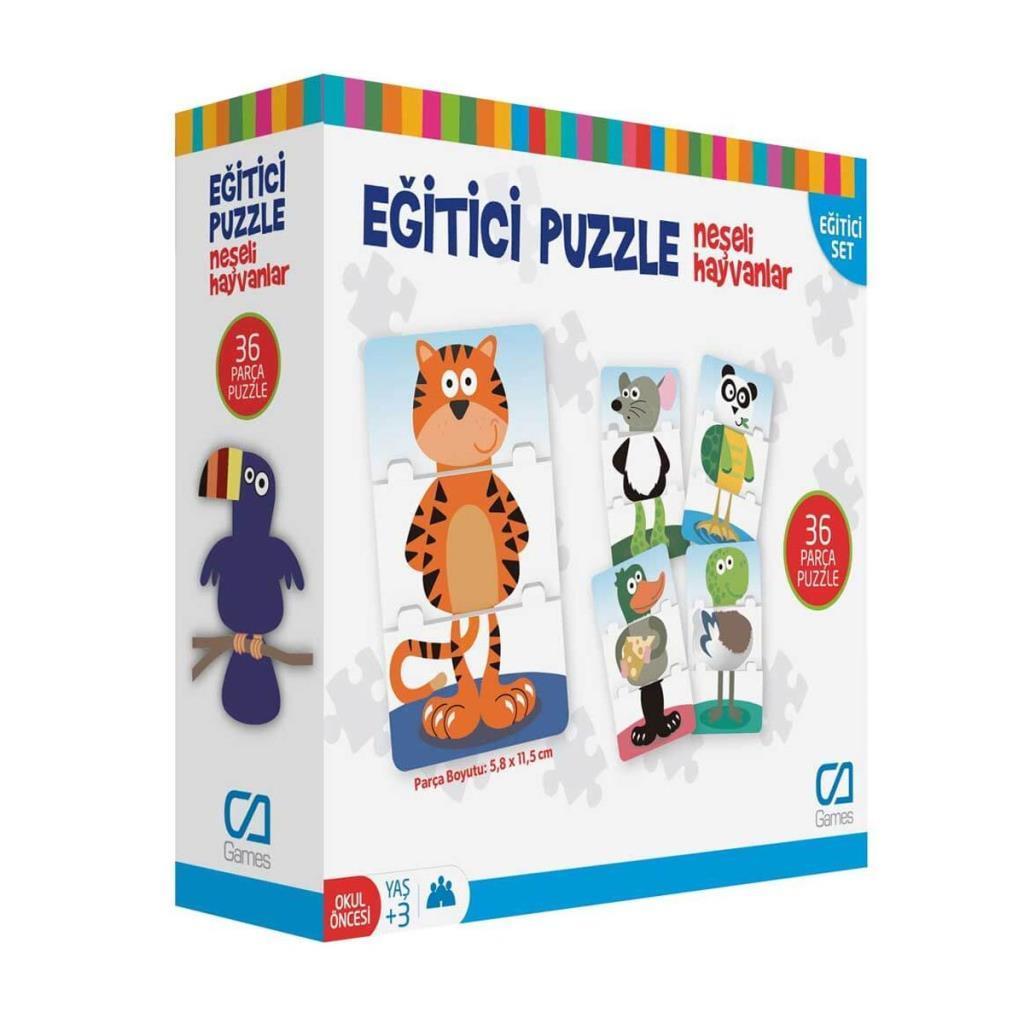 CA Games - Eğitici Puzzle Neşeli Hayvanlar