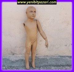 ikinci el unisex kel cocuk manken boy 100cm tek kollu