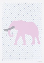 Elephant Pink Poster