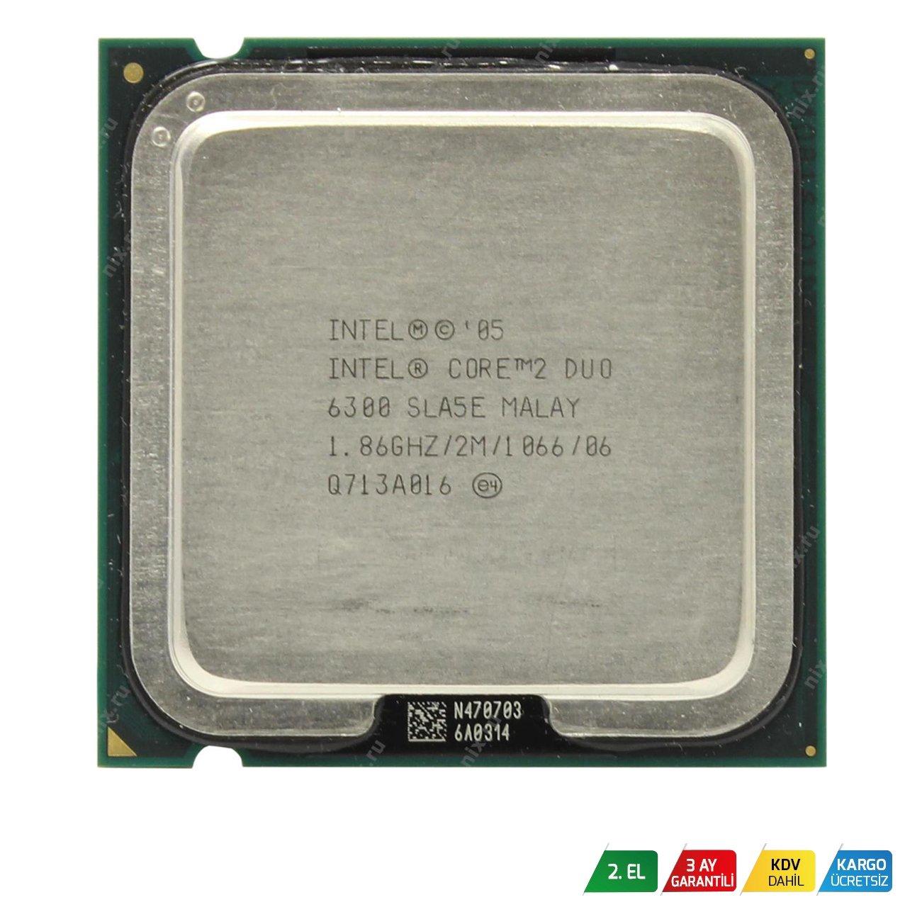 ad4415979feb2 İntel Core 2 Duo E6300 İşlemci : Atom Bilişim