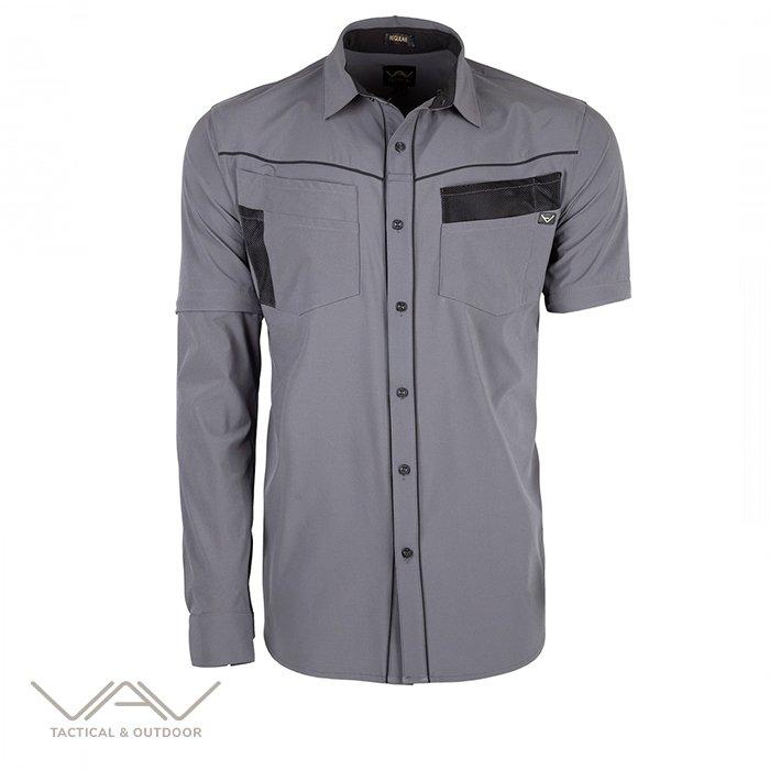 VAV Uzun Kol Gömlek Flextac-01 Gri M
