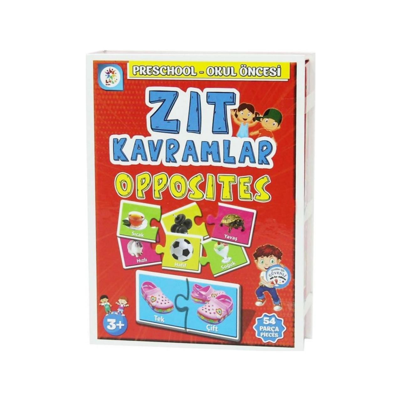 Laco Kids Zit Kavramlar Opposites Okul Oncesi Oyun Seti 54 Parca