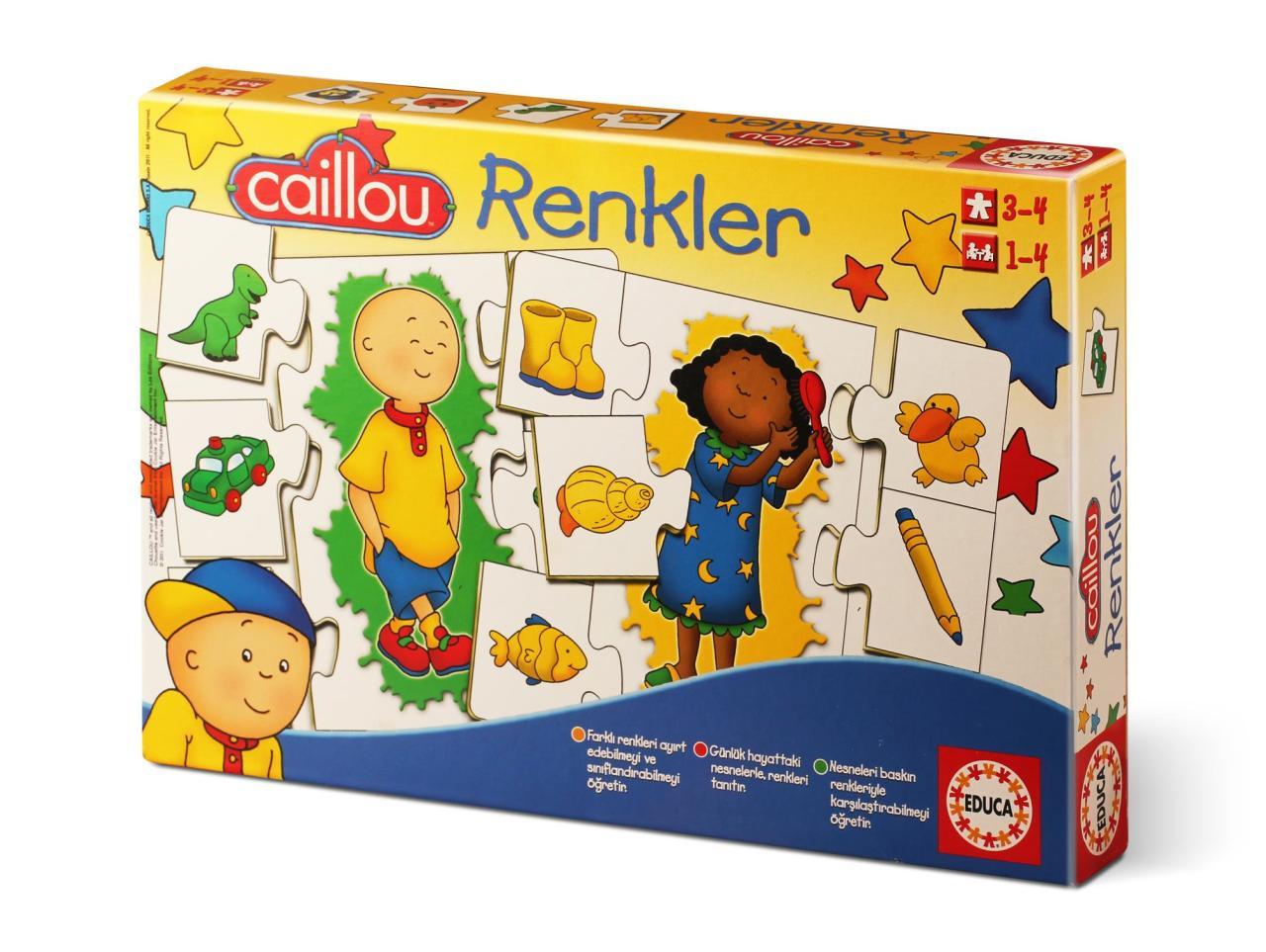 15035 Educa Puzzle Caillou Renkler Egitici Puzzle