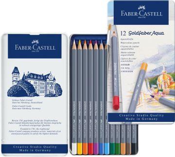 Faber Castell Creative Studio Goldfaber Aquarell Boya Kalemi Metal Kutu 12'li