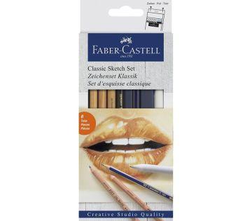 Faber Castell Classic Sketch Eskiz Set 6'lı