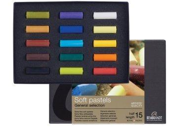 Talens Rembrandt Soft Pastel Boya Yarım Boy 15 Renk