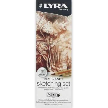 Lyra Rembrandt Sketching Set 6'lı Metal Kutu (Eskiz Seti)