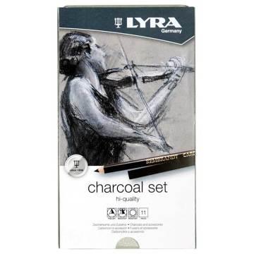 Lyra Rembrandt Kömür Çizim Seti 11'li Metal Kutu