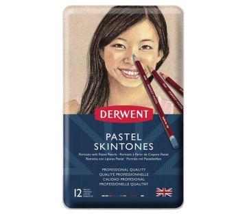 Derwent Pastel Pencil (Skintones) 12'li Teneke Kutu Pastel Kalem Seti