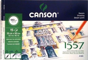Canson 1557 Eskiz Spiralli Çizim Defteri 35x50 cm 180 gr 15 Sayfa