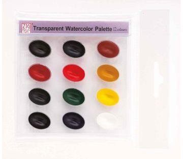 Zig Transparent Watercolor Palette 12 Renk Sulu Boya