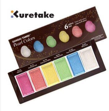 Zig Kuretake Gansai Tambi Pearl Colors Sedefli Sulu Boya 6 Renk