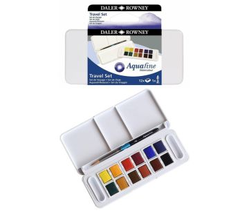 Daler Rowney Aquafine Travel Set 12 Renk Sulu Boya