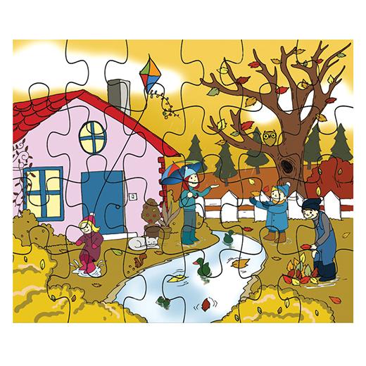 Mevsimler Puzzle Sonbahar Egitim Materyalleri Kitatoys Com Da