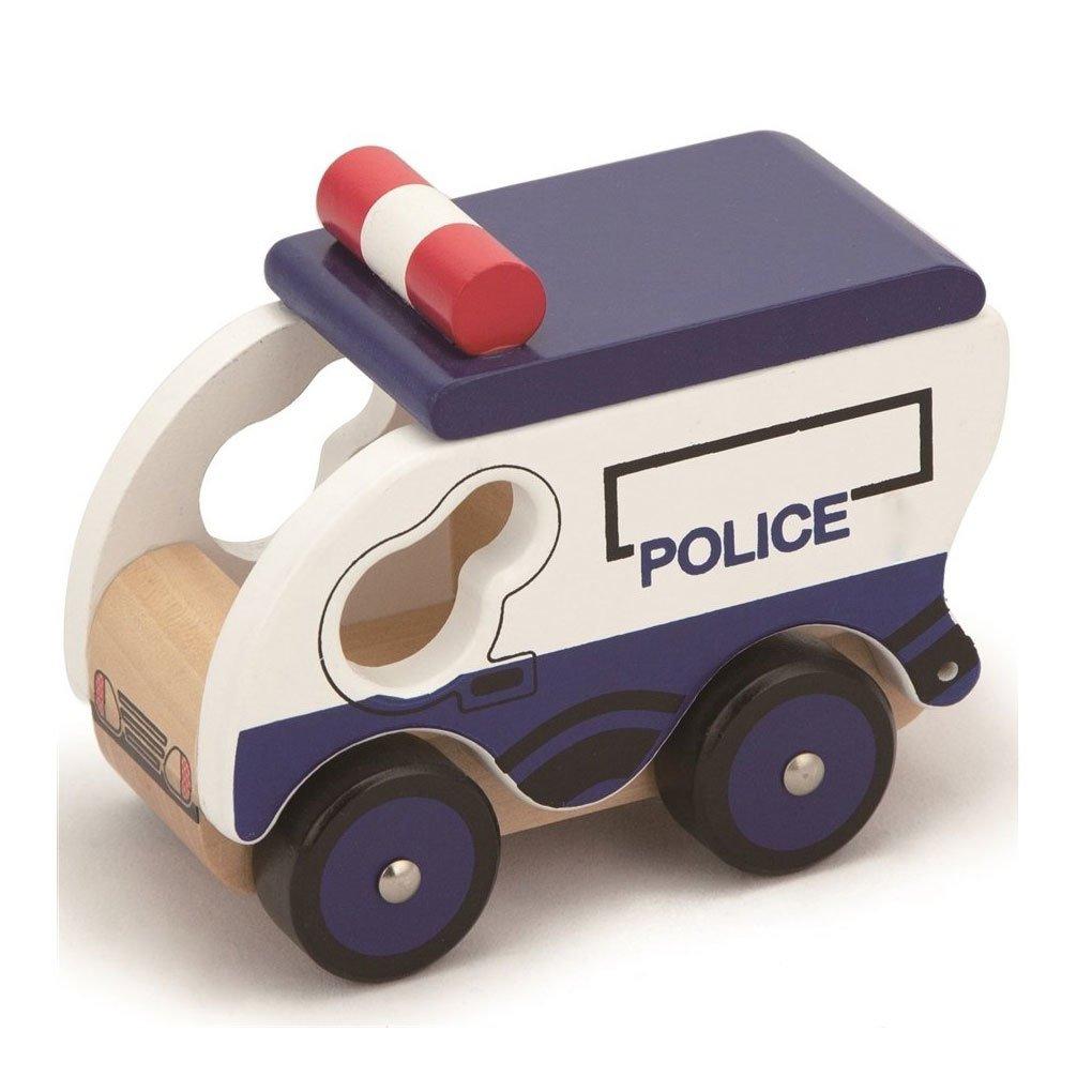 Polis Ahsap Oyuncak Araba Okul Oncesi Egitici Oyuncaklar Kitatoys Da