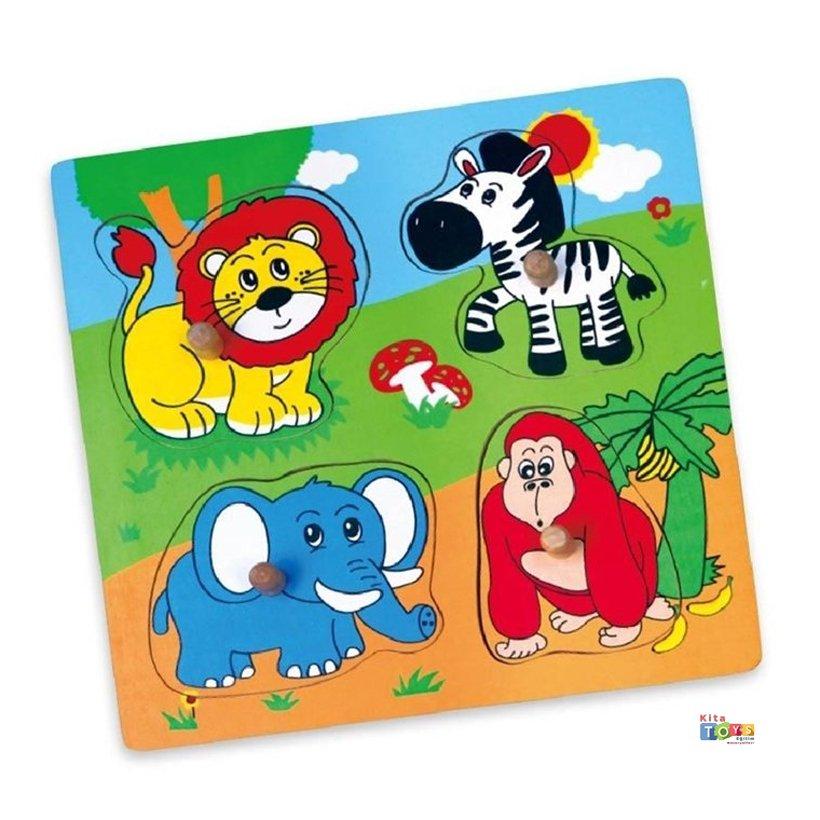 Tutmali Vahsi Hayvanlar Puzzle Okul Oncesi Oyuncak Kitatoys Com