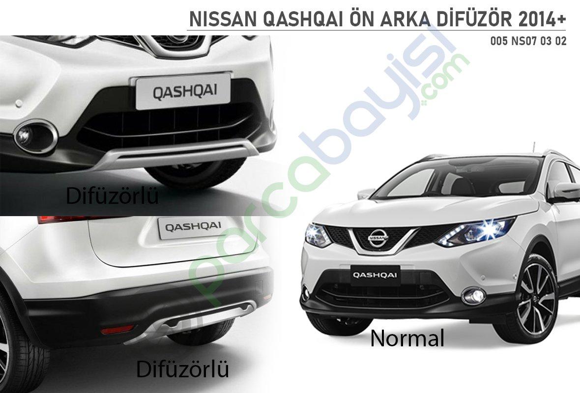 Nissan Qashqai 2014 On Arka Difuzor Xk 002 Parcabayisi On Tampon Koruma