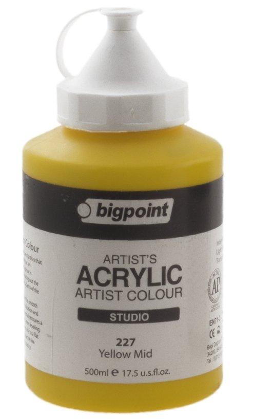 Bigpoint Akrilik Boya 500ml 227 Yellow Mid - 52,22 TL | Hakikat Kırtasiye