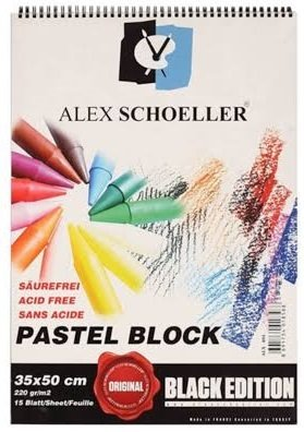 ALEX SCHOELLER SİYAH PASTEL FON BLOK 220 GR. 35X50 CM. 15 SAYFA ALX-894, ALEX  SCHOELLER SİYAH PASTEL FON BLOK 220 GR. 35X50 CM. 15 SAYFA ALX-894,