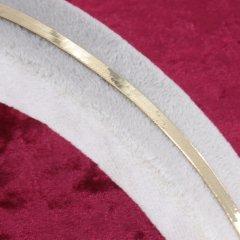 Balık Sırtı Örgü (İtalyan Ezme Zincirli) Altın Bileklik 4mm Genişlik