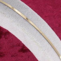 Balık Sırtı Örgü (İtalyan Ezme Zincirli) Altın Bileklik 2mm Genişlik